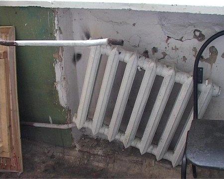 Прорыв системы отопления