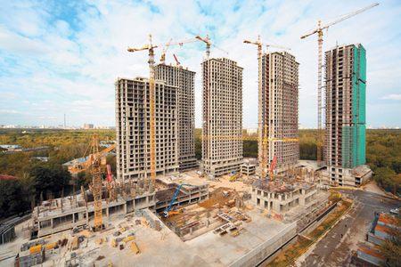 Строящийся жилой комплекс