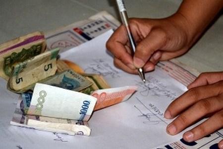 Написание расписки в получении денежных средств