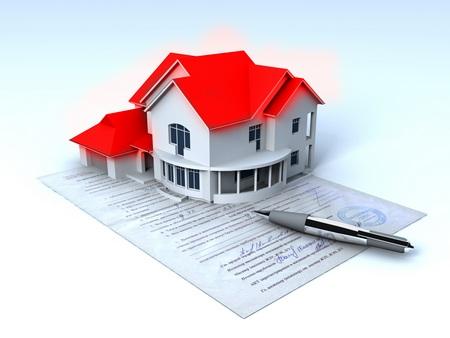 Подписанный договор на продаже недвижимости
